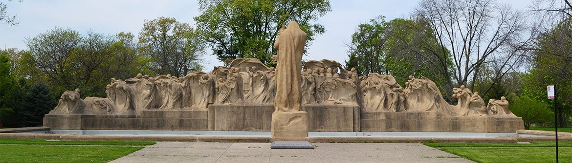 Lorado Taft's Fountain of Time sculpture
