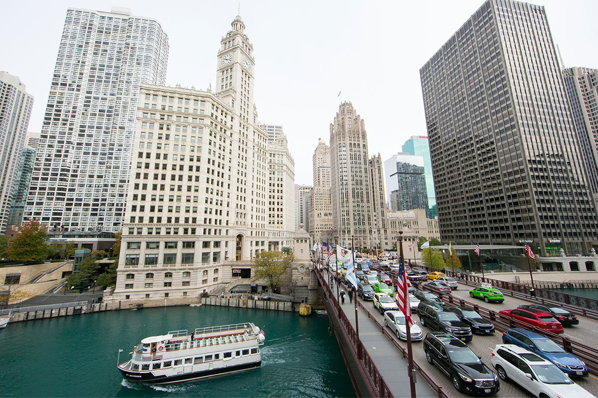 The View from Michigan Ave Bridge