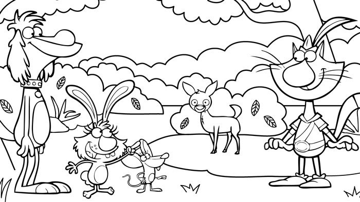 nature cat coloring pages wttw chicago. Black Bedroom Furniture Sets. Home Design Ideas