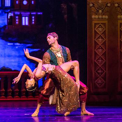 Christine Rocas and Fabrice Calmels in the Arabian Dance (Photo by Cheryl Mann)