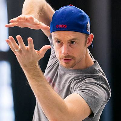 Choreographer Christopher Wheeldon in rehearsal  (Photo by Todd Rosenberg)