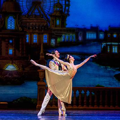 Victoria Jaiani and Miguel Blanco in the grand pas de deux (Photo by Cheryl Mann)