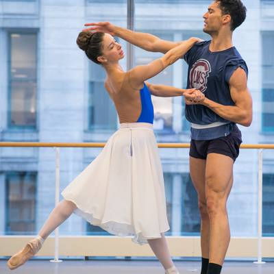 April Daly and Fabrice Calmels in rehearsal (Photo Todd Rosenberg)