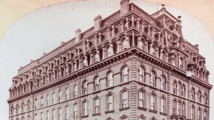 Palmer House Hotel in Chicago before the Great Chicago Fire