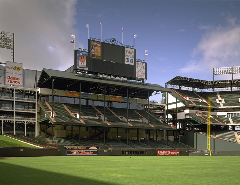 Texas Rangers Ballpark field and stands