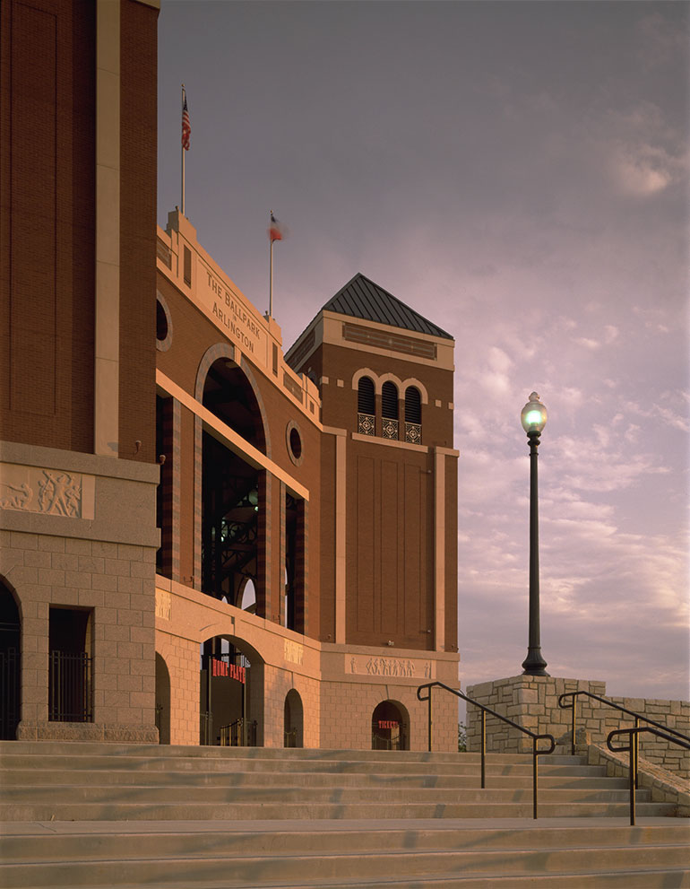 Texas Rangers Ballpark, entrance tower