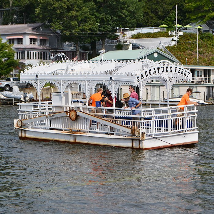 Saugatuck Chain Ferry on the water
