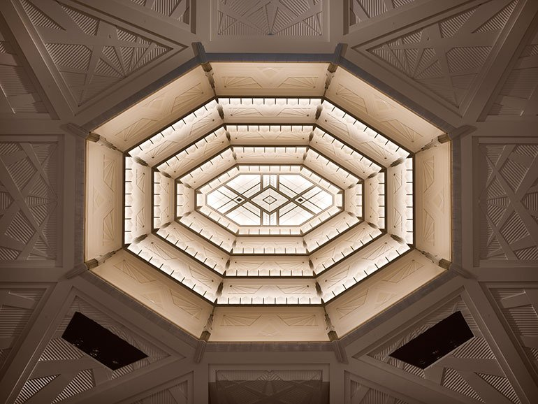 Smith Center, interior skylight