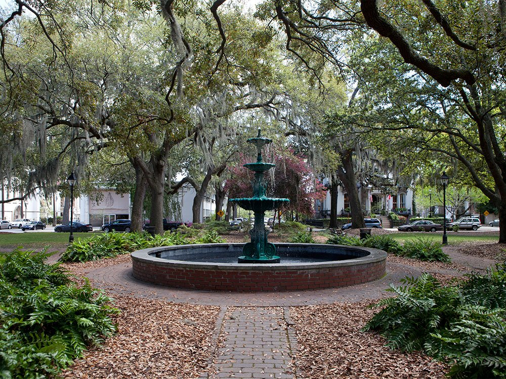 Squares of Savannah, GA (credit Bailey Davidson)