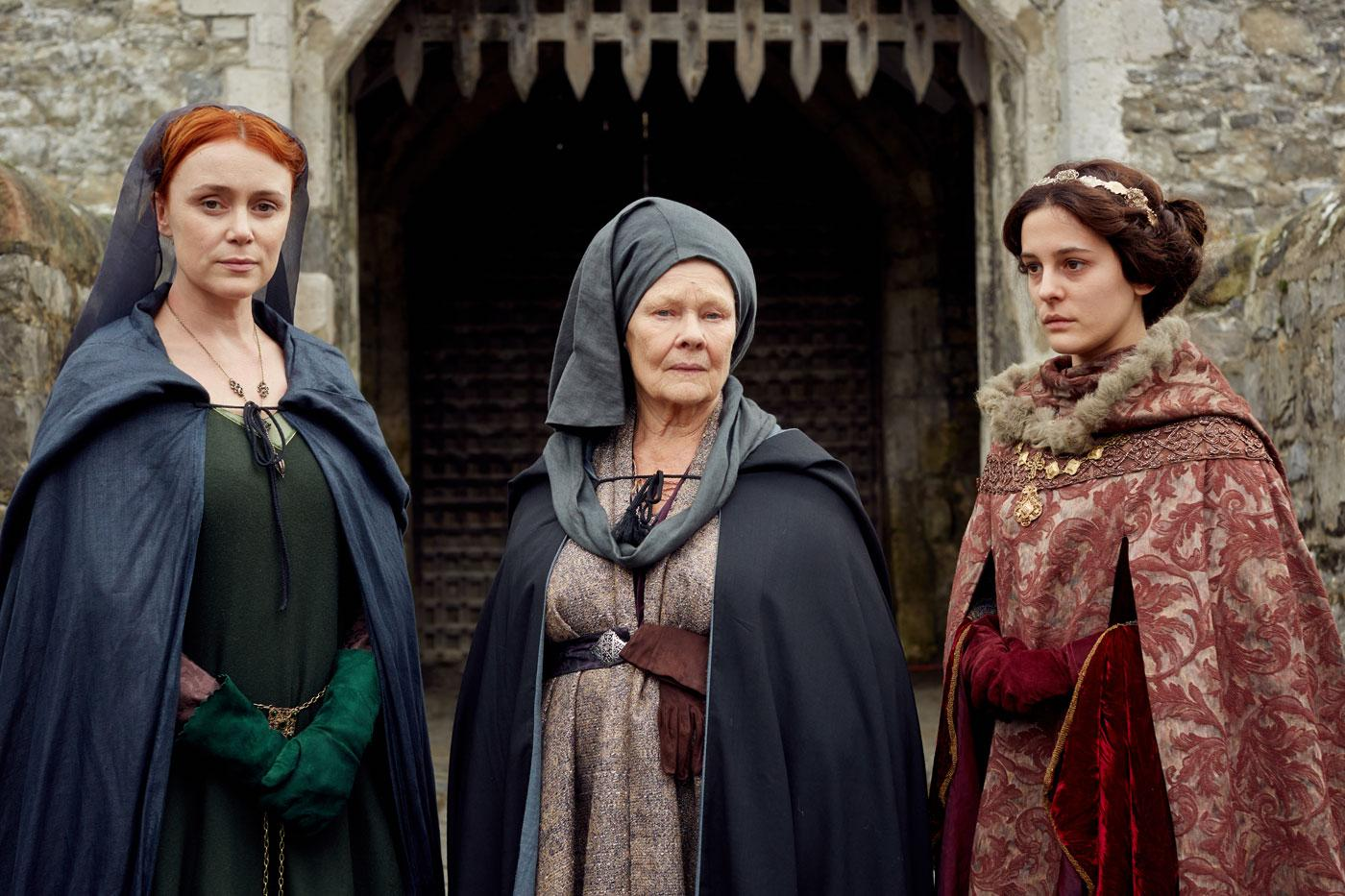 Keeley Hawes as Elizabeth Woodville, Judi Dench as Cecily, the Duchess of York, and Phoebe Fox as Anne Neville.