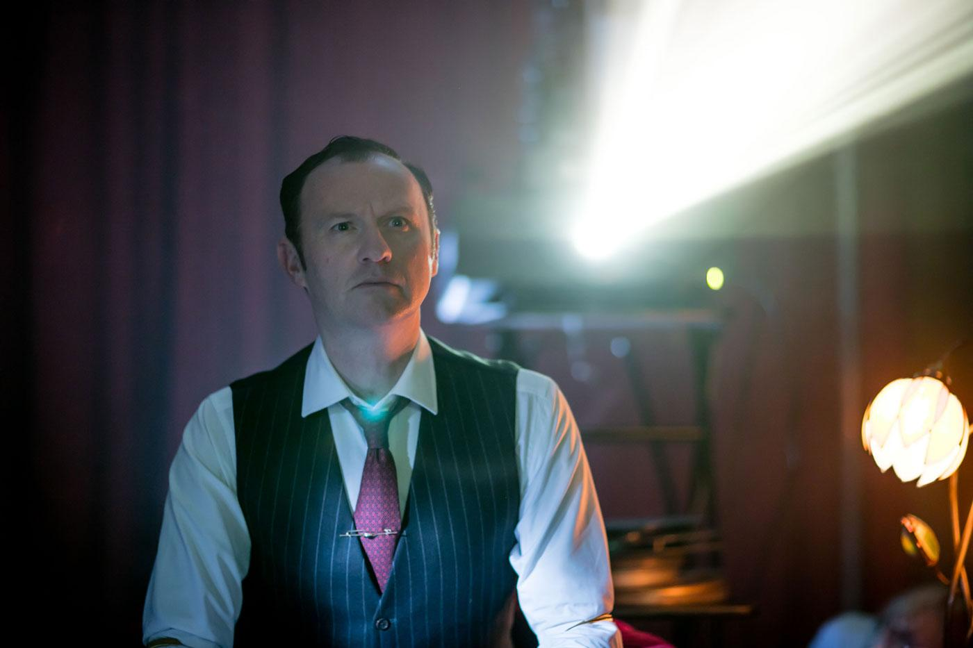 Mark Gatiss as Mycroft Holmes. (Laurence Cendrowicz/Hartswood Films & MASTERPIECE)