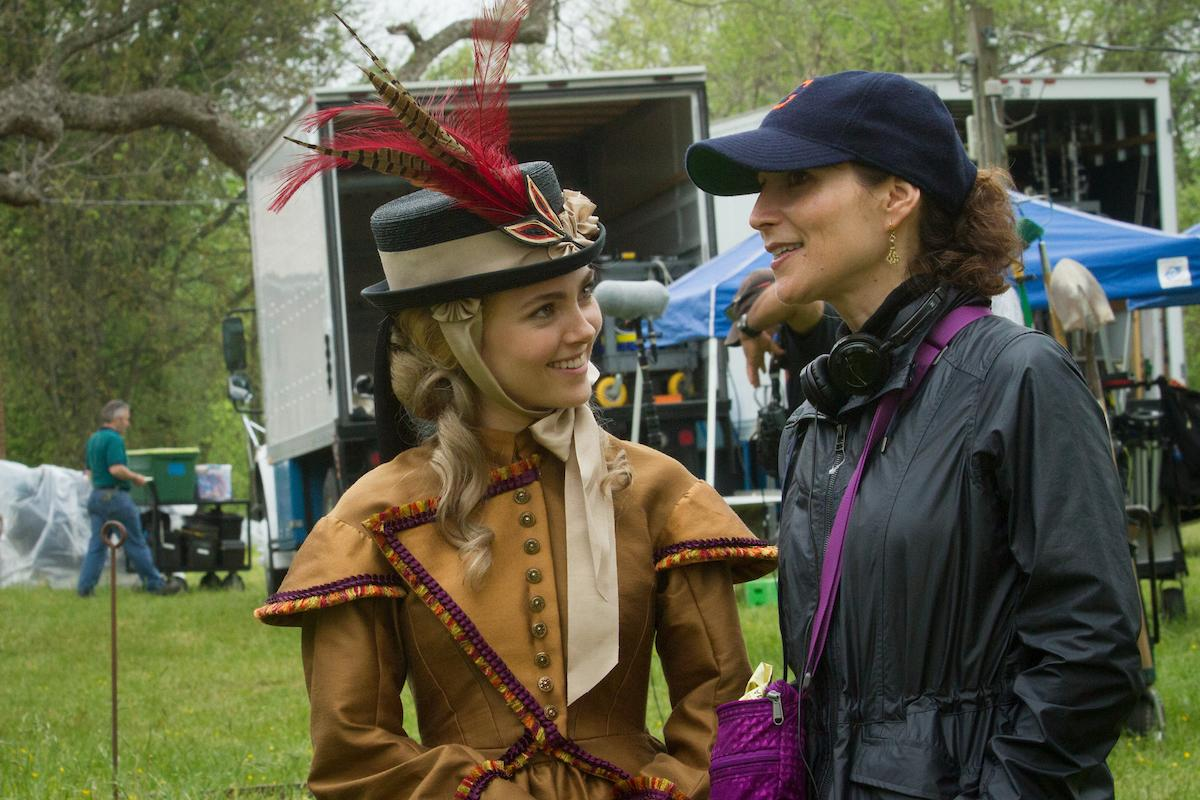 Actress AnnaSophia Robb (Alice Green) with Co-Creator and Executive Producer Lisa Q. Wolfinger. (Courtesy of PBS/Erik Heinila)
