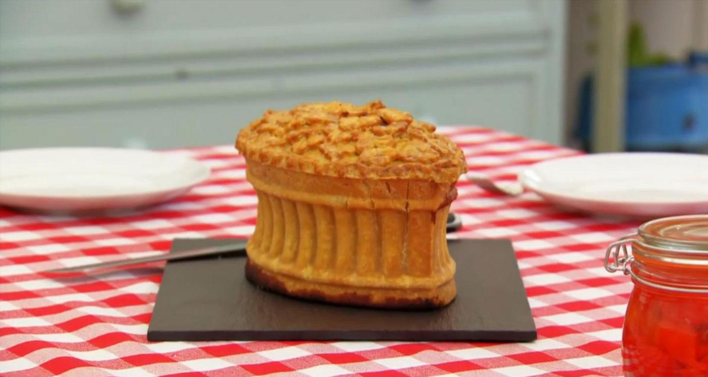 Paul Hollywood's Raised Game Pie from the Great British Baking Show. (PBS)
