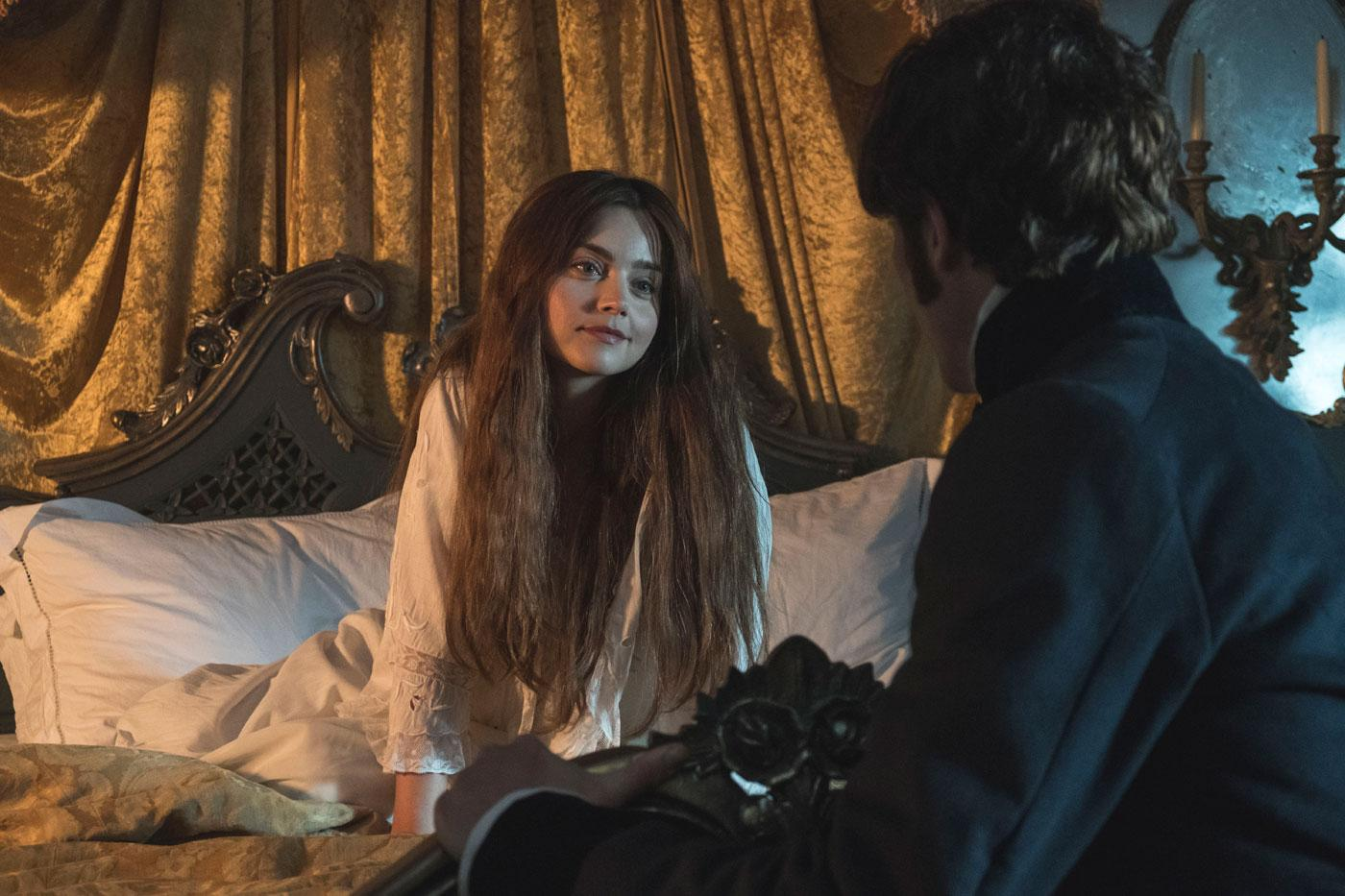 "Victoria is pregnant, but she will not ""be trussed up in bed all day."" (ITV Plc)"
