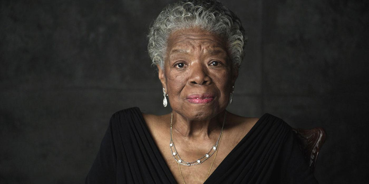"Dr. Maya Angelou on the set of ""Oprah's Master Class,"" circa January 2011. (Courtesy of OWN)"