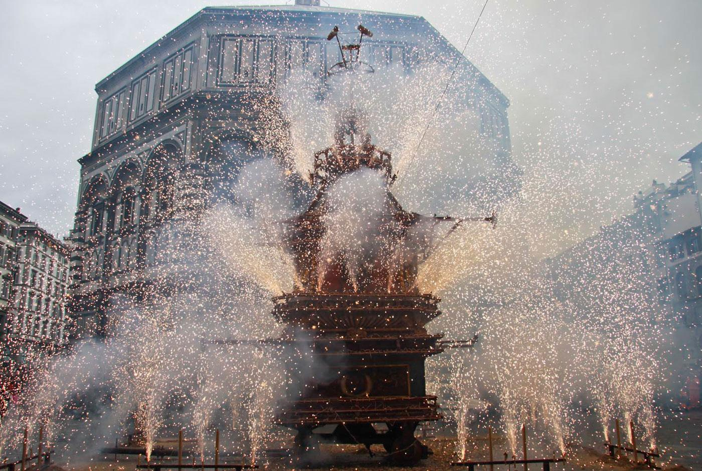 Scoppio Del Carro, or Explosion of the Cart, an Easter tradition in Florence.