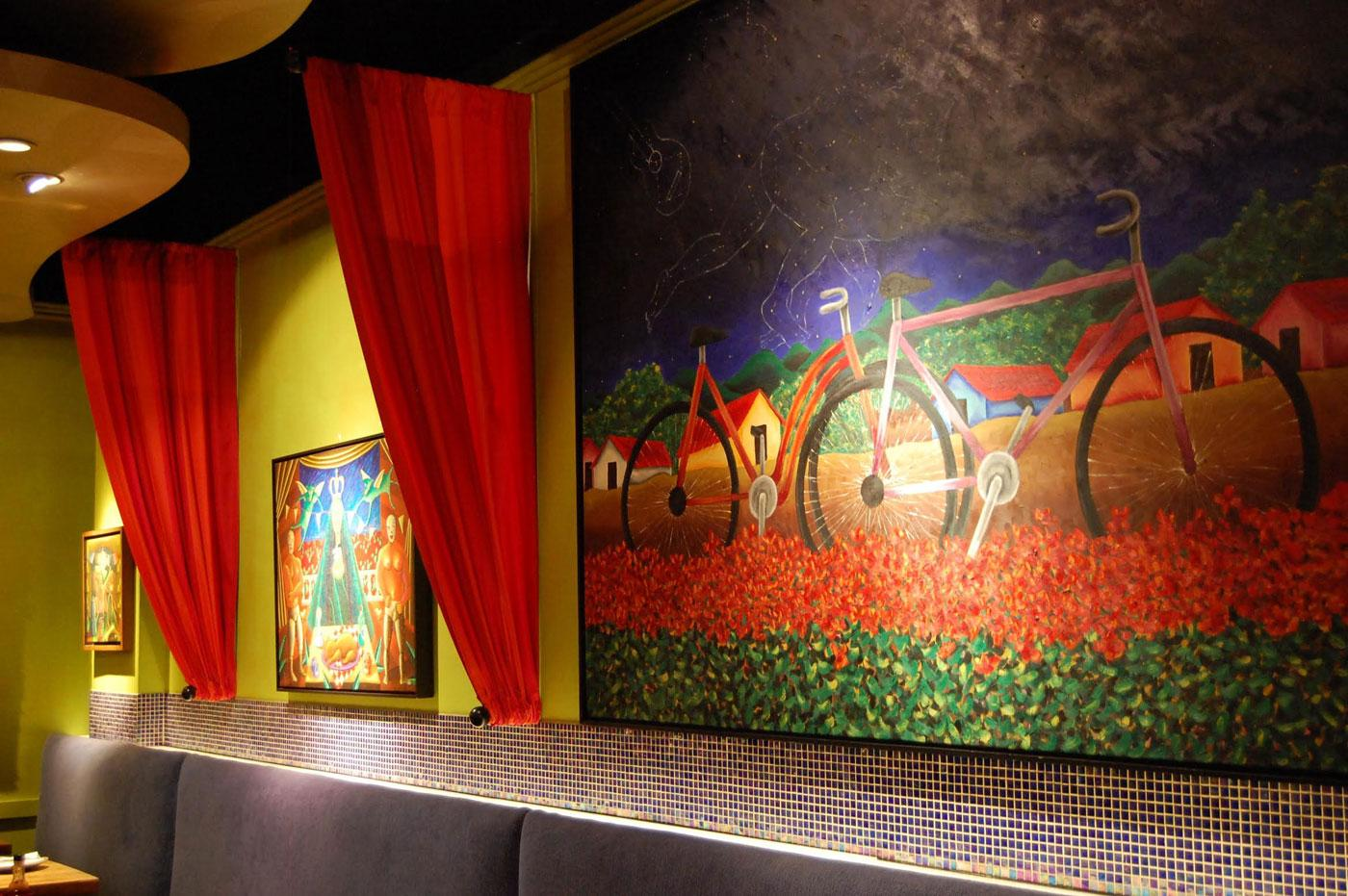 Mexican folk paintings in Frontera Grill. (Caitrin Hughes)