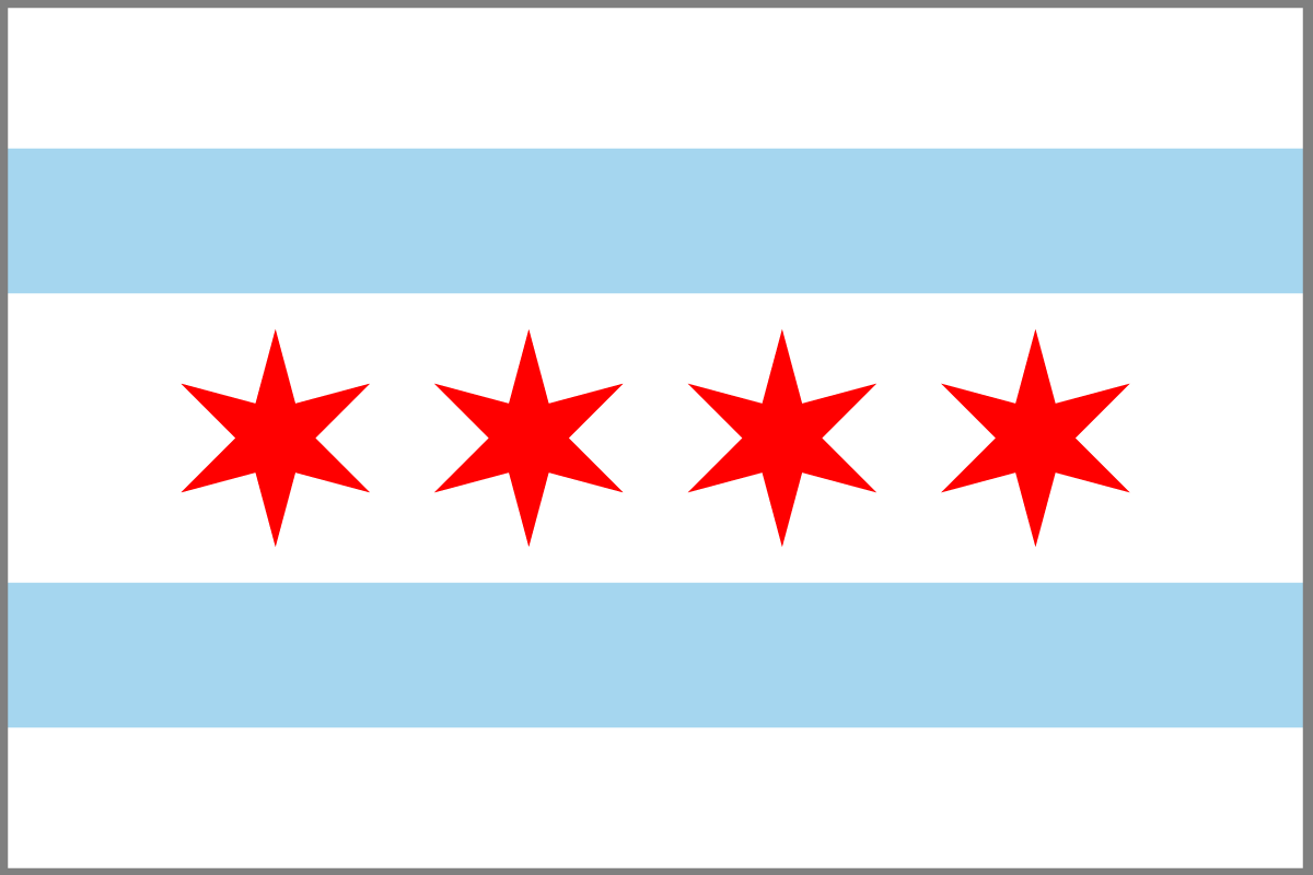 The Chicago Flag.