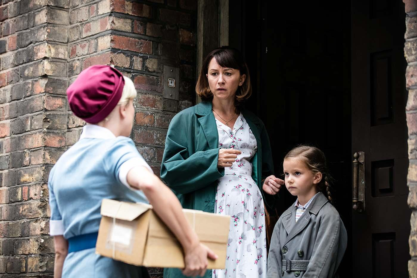 Helen George as Trixie Franklin, Claire Lams as Marnie Wallace in 'Call the Midwife.' Photo: Neal Street Productions 2016