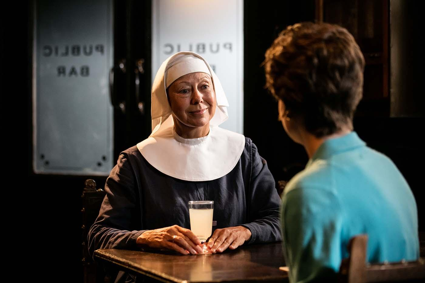 Jenny Agutter as Sister Julienne, Jennifer Kirby as Valerie Dyer in 'Call the Midwife.' Photo: Neal Street Productions 2016