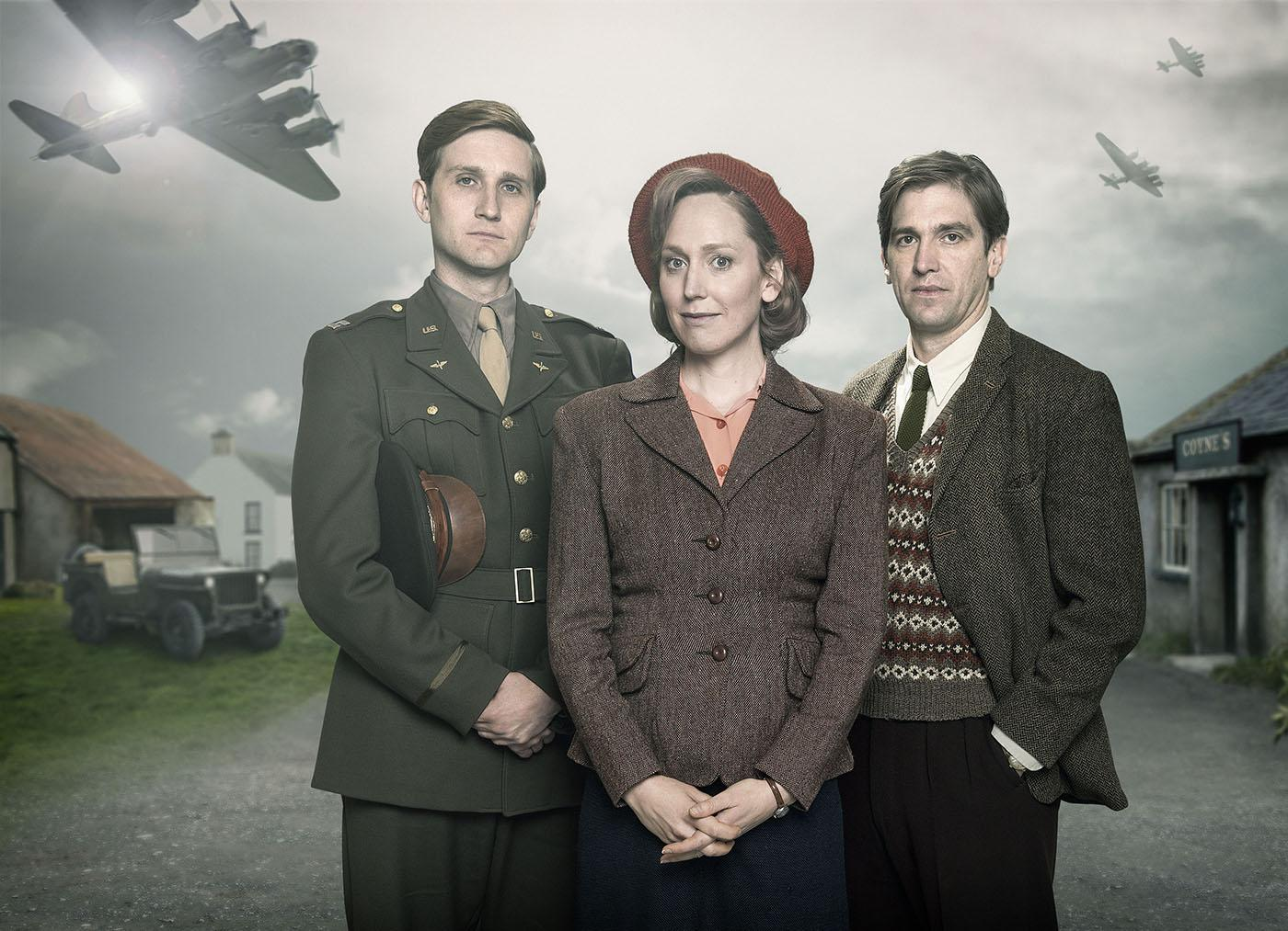 Aaron Staton, Hattie Morahan, and Owen McDonnell in 'My Mother and Other Strangers.' Photo: Steffan Hill/BBC 2016 for MASTERPIECE