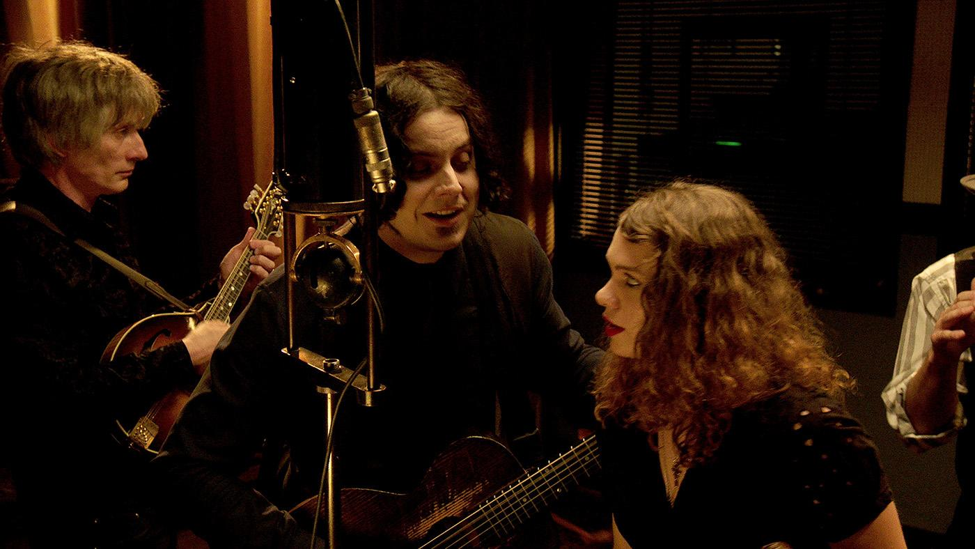 Jack White recording on an old Western Electric machine for 'The American Epic Sessions.' Photo: ©2017 Lo-­‐Max Records Ltd.