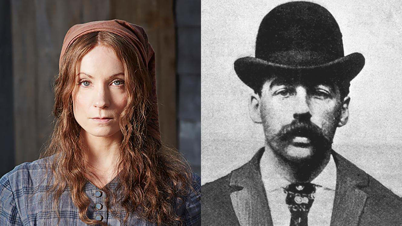 Joanne Froggatt as Mary Ann Cotton; H. H. Holmes. Photo: ©JustinSleePhotography2015/MASTERPIECE