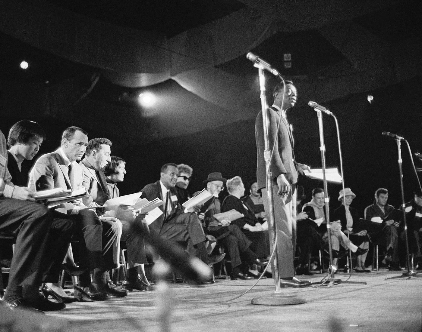 Rehearsal for JFK's Pre-Inaugural Gala. Photo: Courtesy Mark Shaw