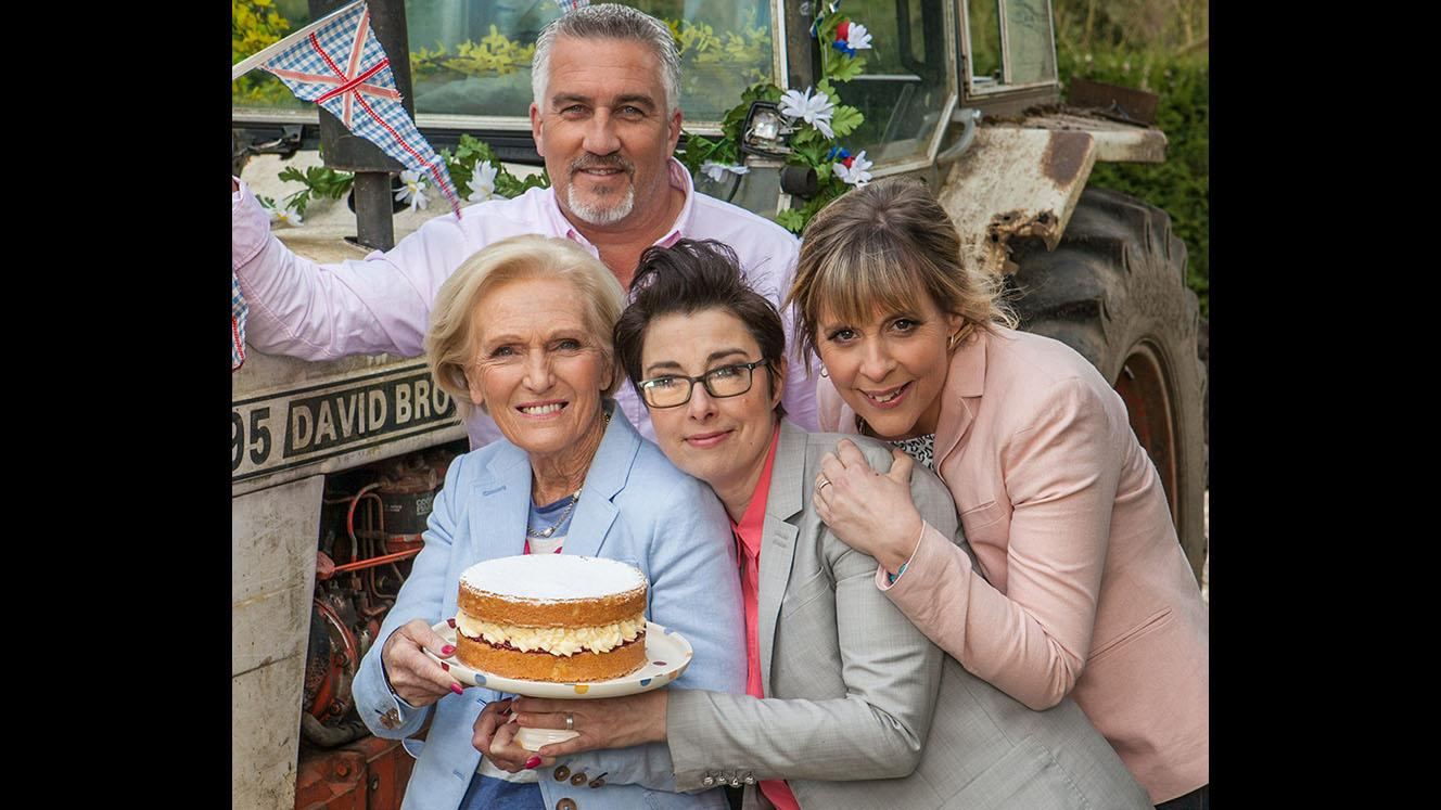 Mary Berry, Paul Hollywood, Sue Perkins, and Mel Gideroyc. Photo:  Mark Bourdillon, © Love Productions