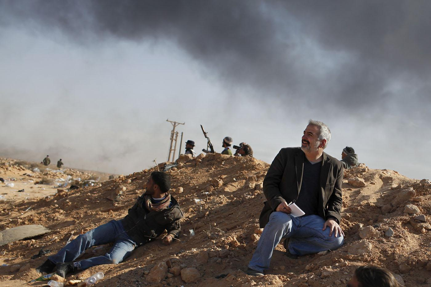 Journalist Anthony Shadid in the field.