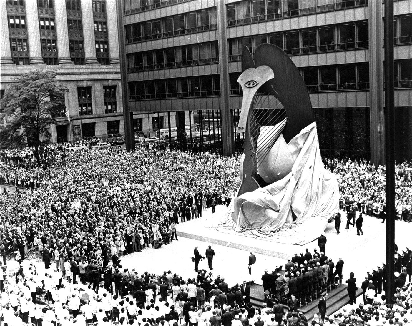 The unveiling of the Chicago Picasso. Photo: Courtesy DCASE