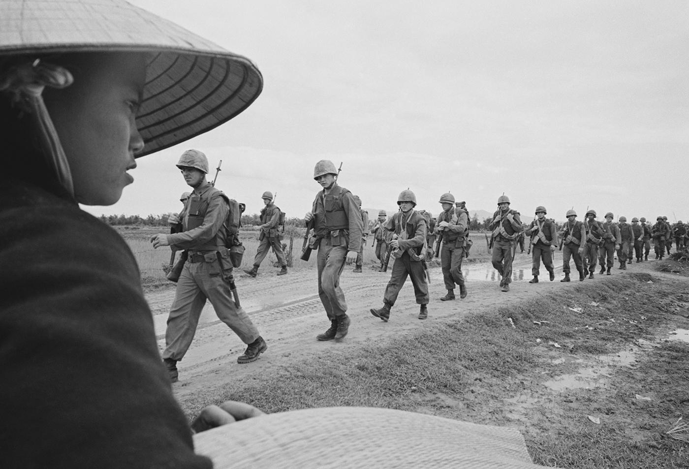 Marines marching in Danang. March 15, 1965. Photo: Associated Press