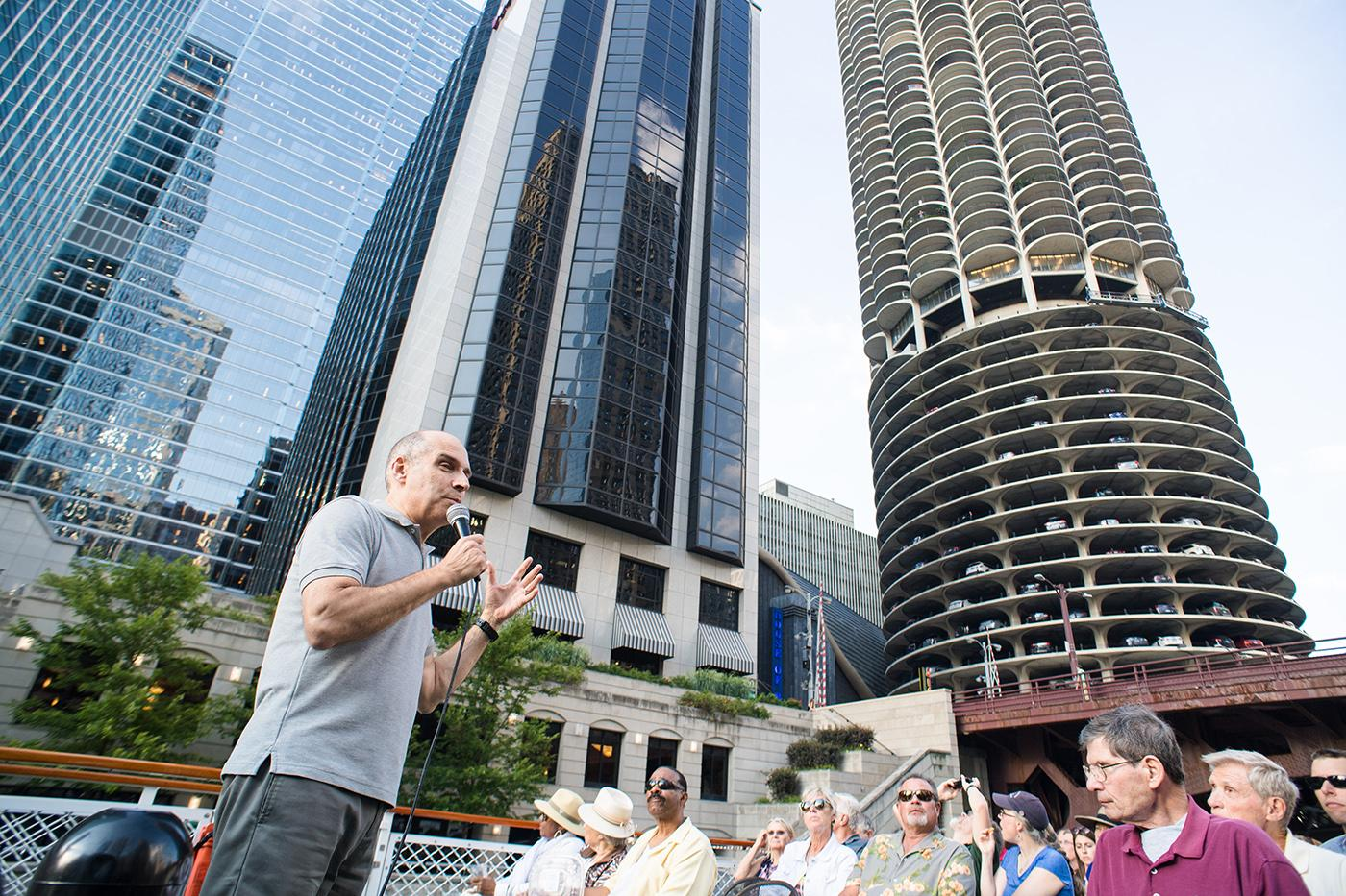 The Chicago River Tour with Geoffrey Baer. Photo: Ken Carl