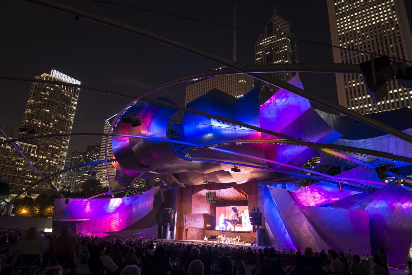 The Chicago Jazz Festival at Millennium Park's Pritzker Pavilion. Photo: Courtesy of City of Chicago