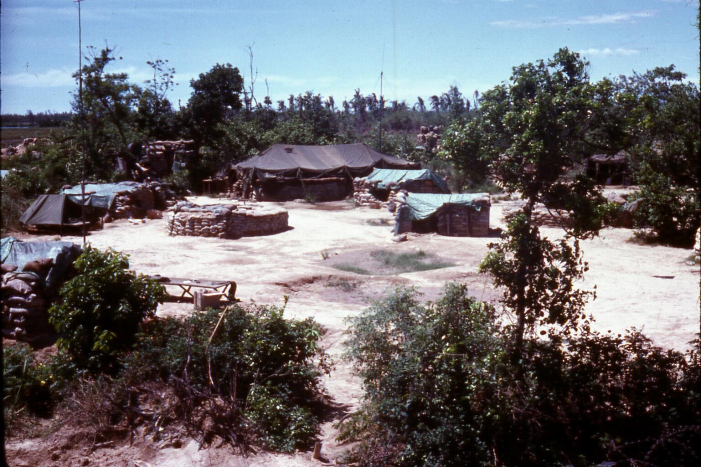 Marine base in the Vietnam War.