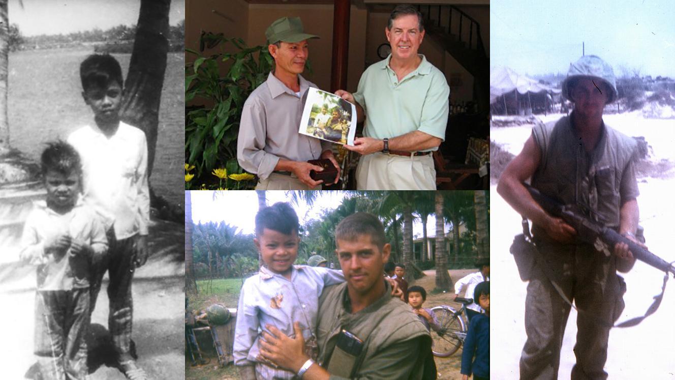 Vietnam veteran with a south Vietnamese friend.