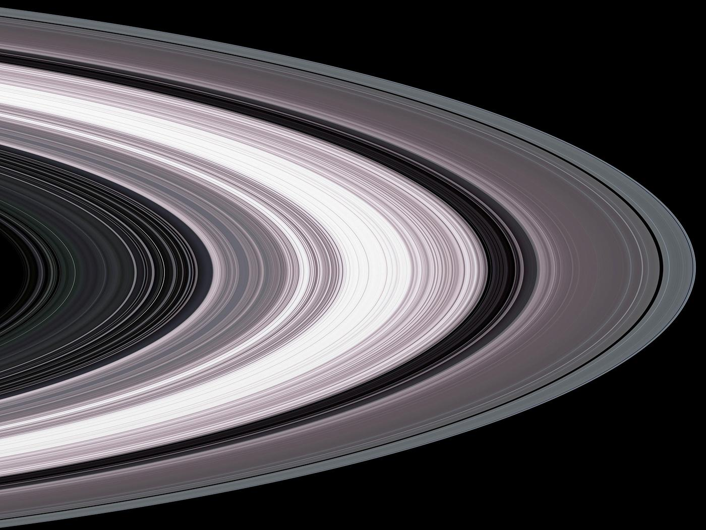 Saturn's rings. Image: Courtesy NASA