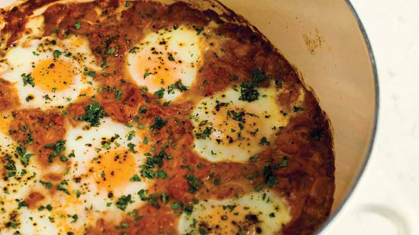 Curry Braised Eggs. Photo: Courtesy Milk Street
