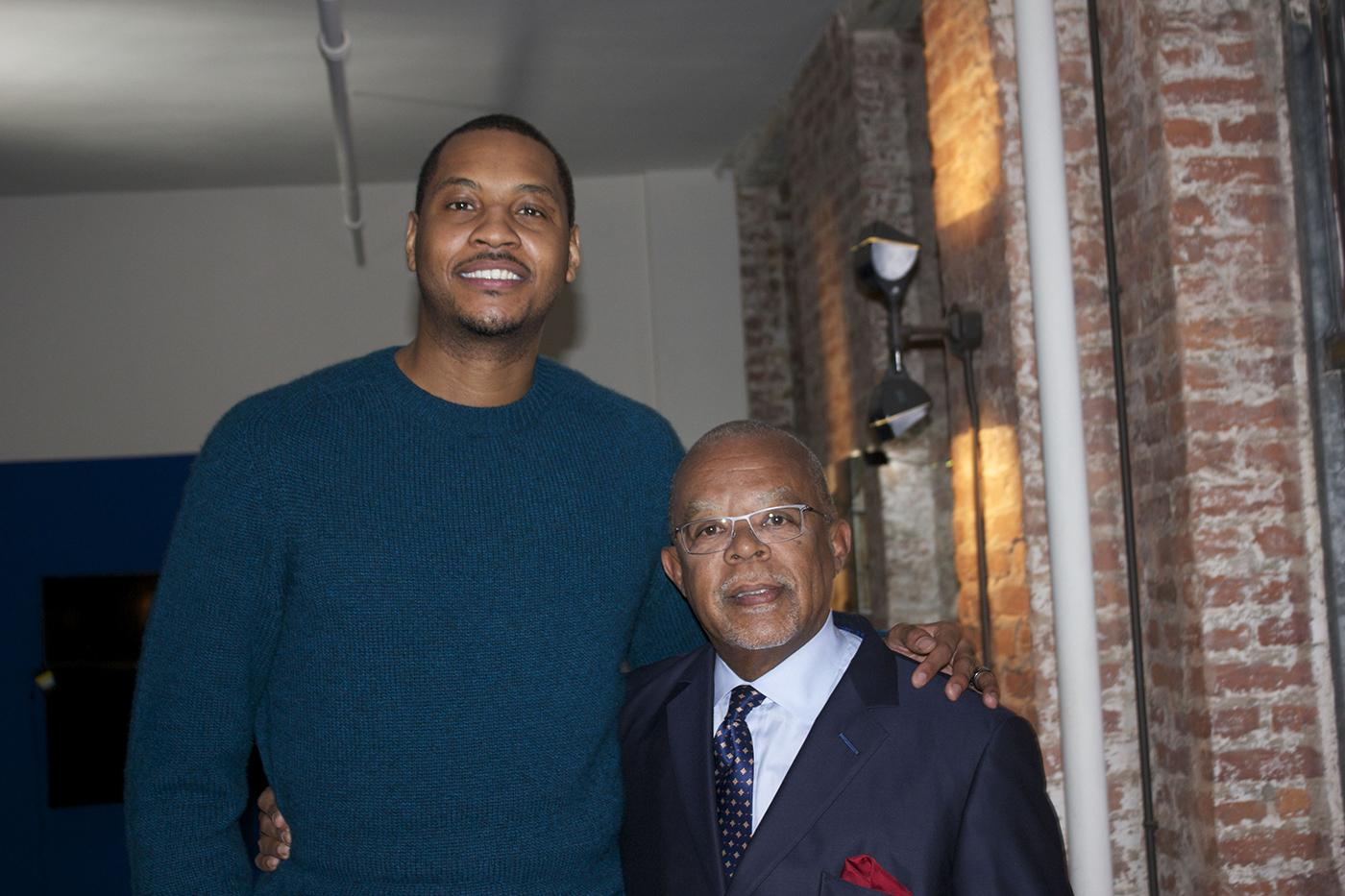 Carmelo Anthony and Henry Louis Gates, Jr.