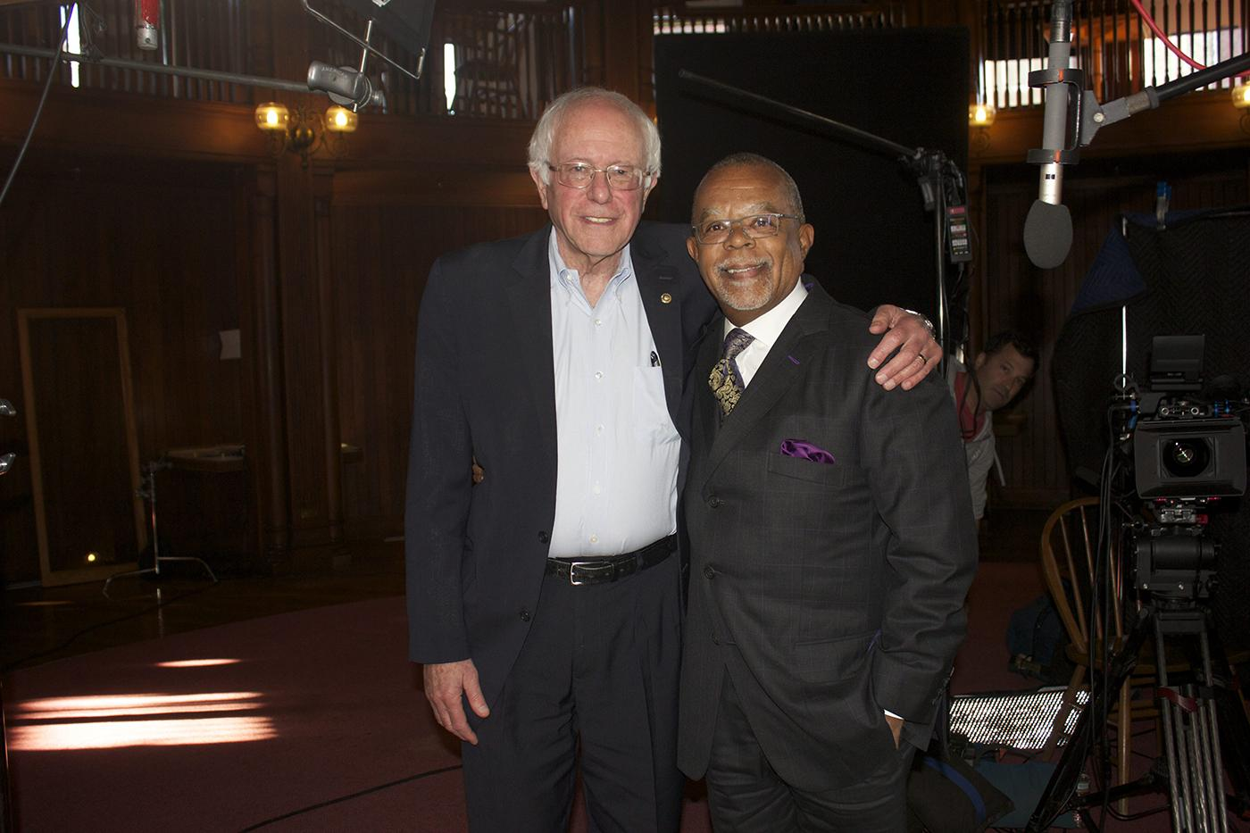 Bernie Sanders and Henry Louis Gates, Jr. on 'Finding Your Roots.'