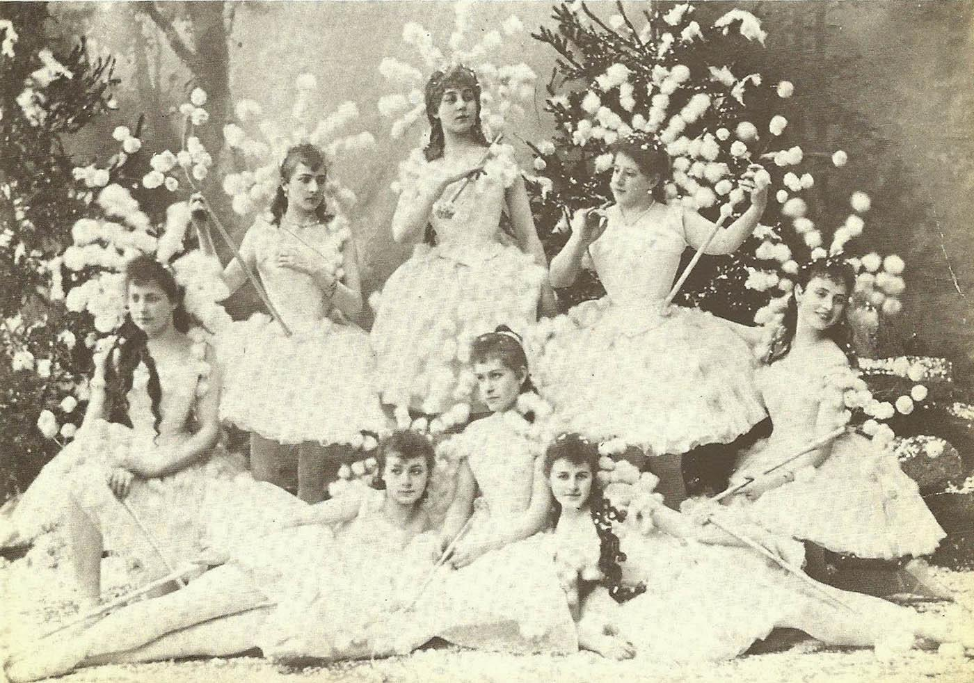 The snowflakes in the original 1892 production of 'The Nutcracker.'