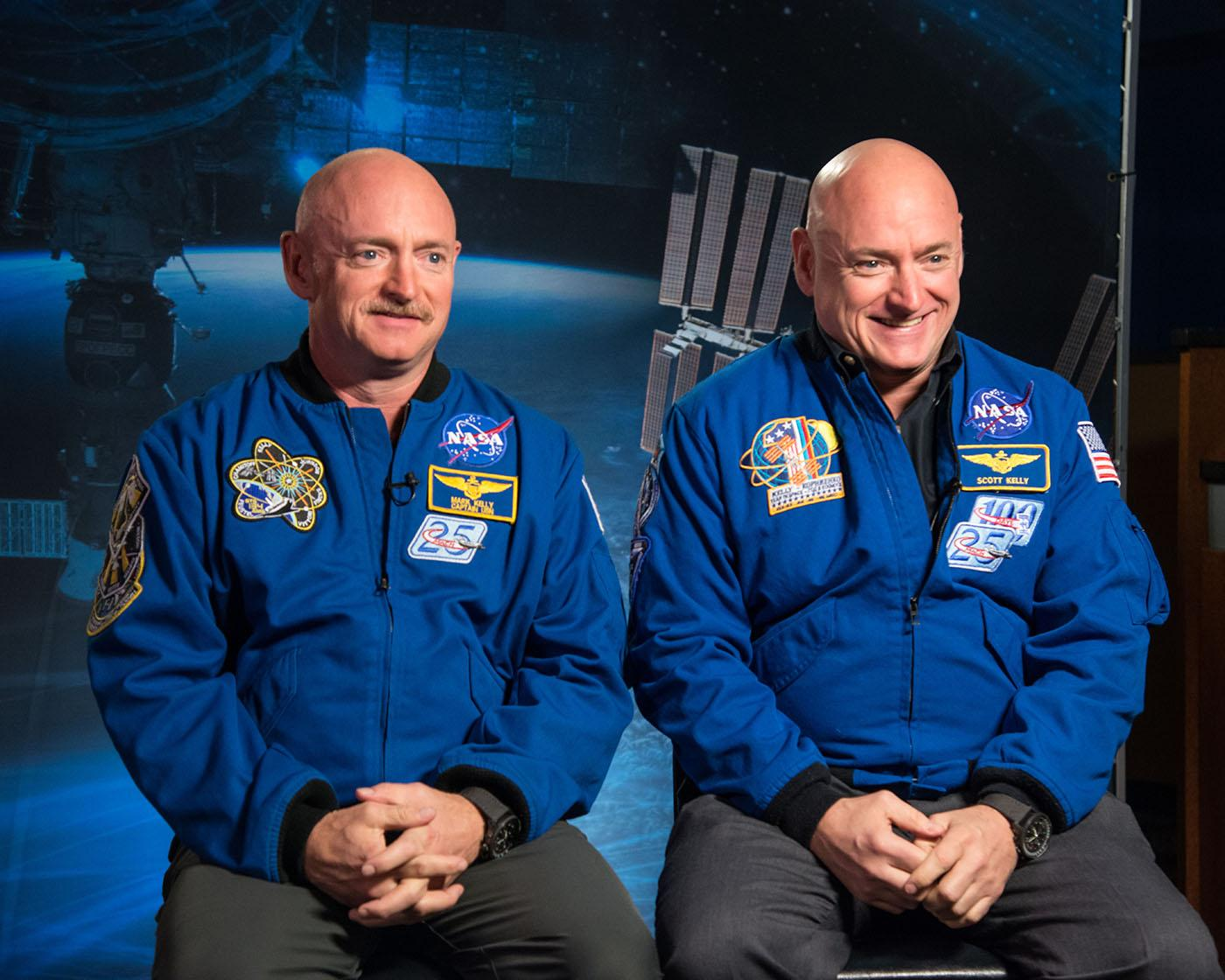 Astronauts and twins Scott and Mark Kelly. Photo: Courtesy NASA