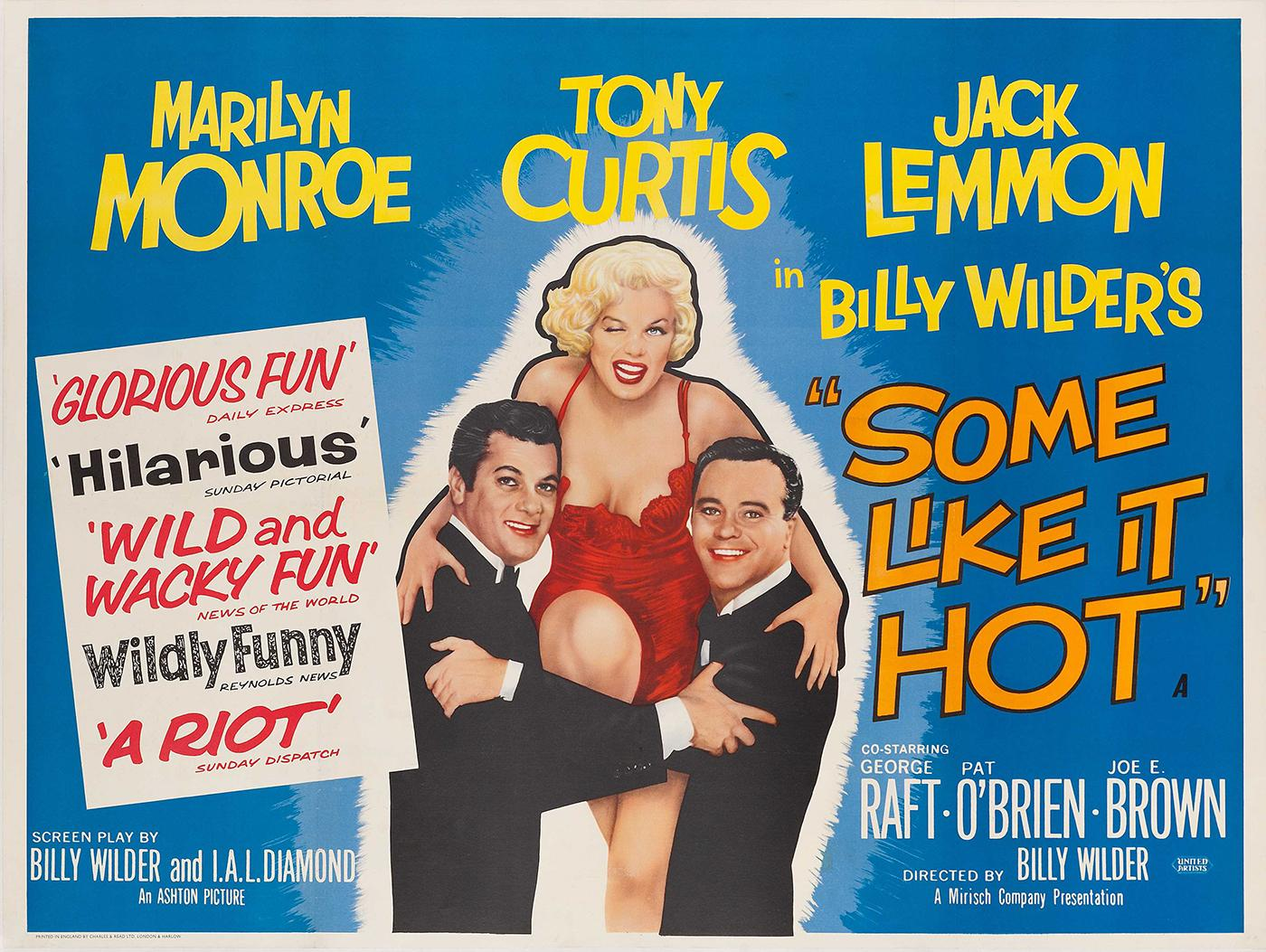 The poster for Billy Wilder's Some Like It Hot. Image: Courtesy Christie's