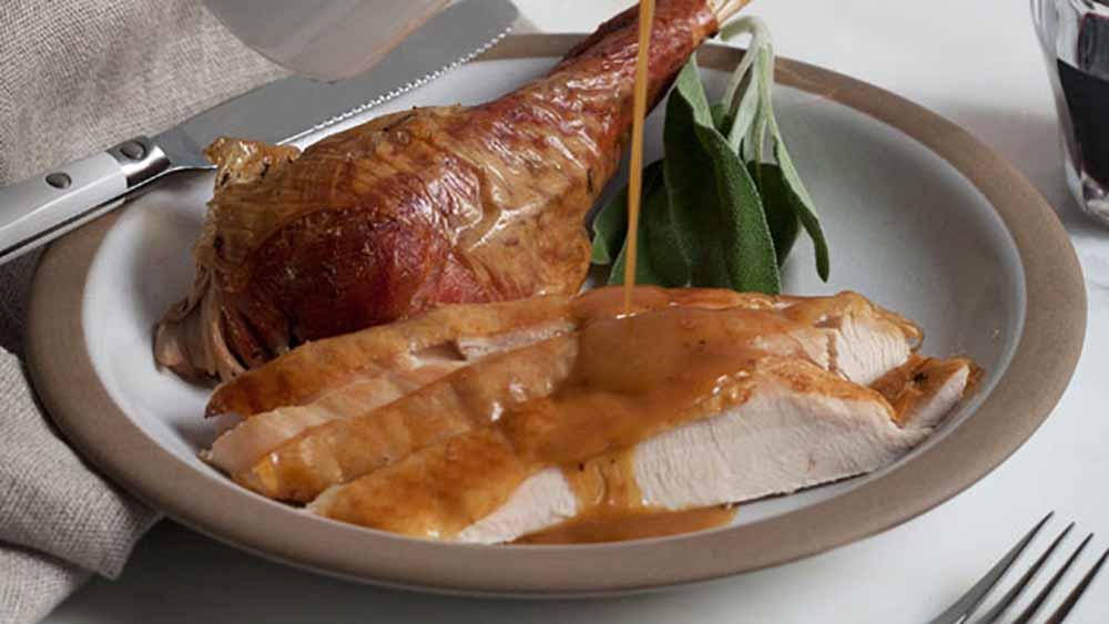 Pan Dripping Turkey Gravy. Photo: Courtesy PBS Food
