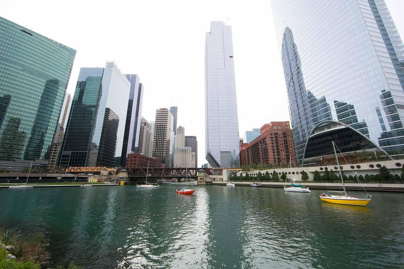The Chicago River at Wolf Point. Photo: Kristan Lieb