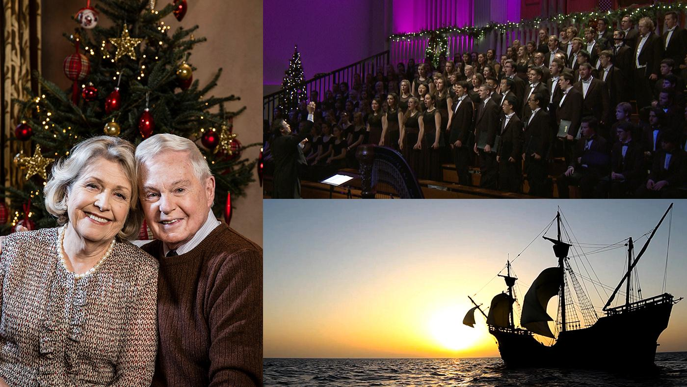 Last Tango in Halifax, Wheaton College Christmas Festival, Secrets of Spanish Flordia. Photos: BBC/Red Productions/Gary Moyes; Funcación Nao Victoria; Wheaton College