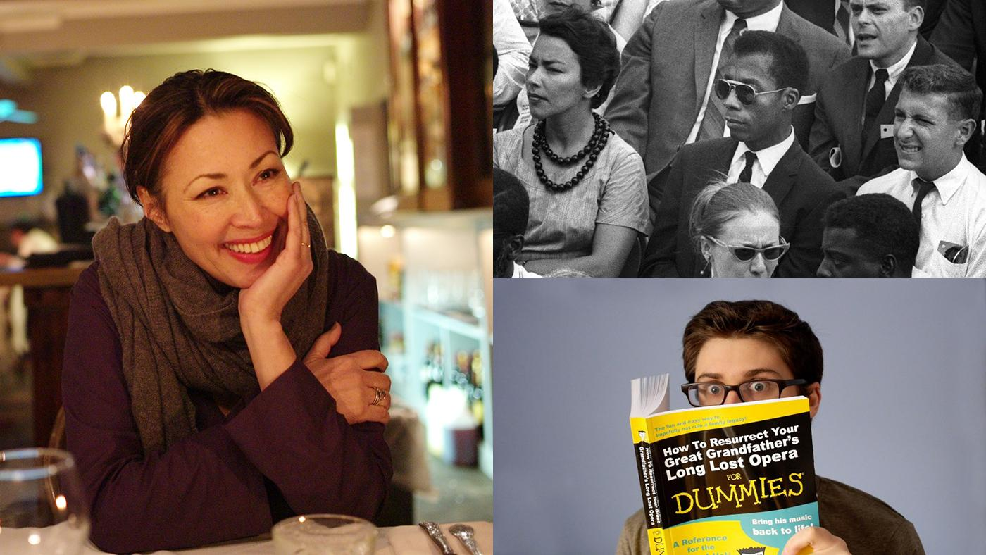 Ann Curry in We'll Meet Again; James Baldwin at the March on Washington; The Way to Andina. Photos: David Turnley; Dan Budnik; The Way to Andina