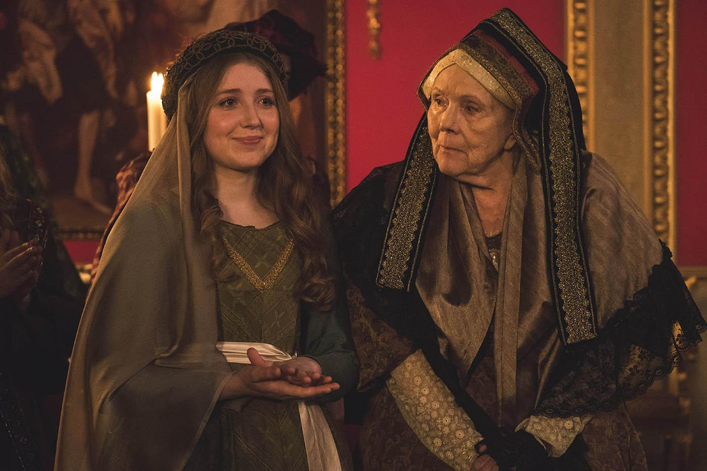 Wilhelmina Coke and the Duchess of Buccleuch (Diana Rigg) in Victoria. Photo: Courtesy of ITV Studios