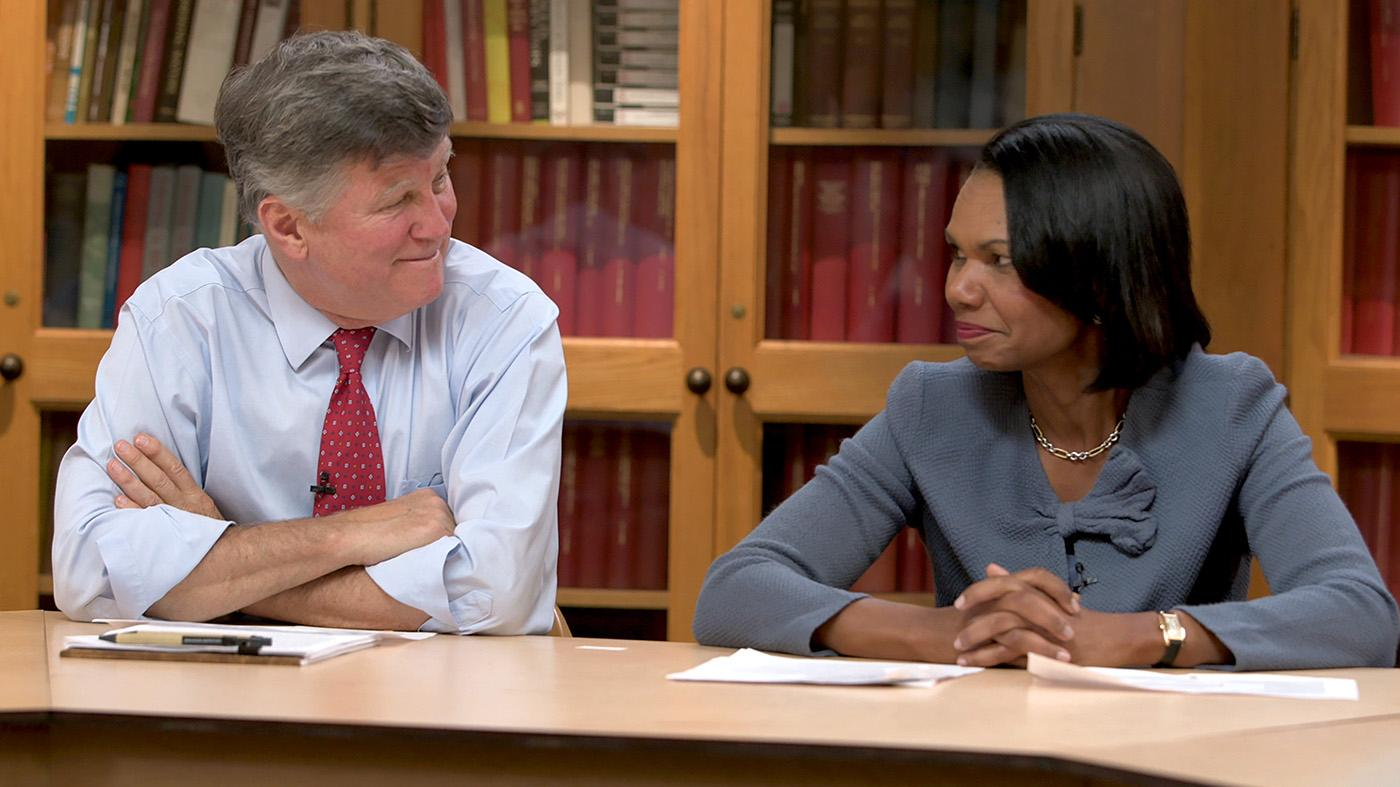 David M. Kennedy and Condoleezza Rice in American Creed