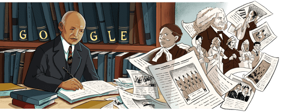 The Google Doodle of Carter G. Woodson. Image: Google